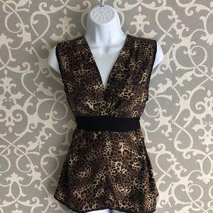 BCBG MaxAzria Leopard Print Blouse